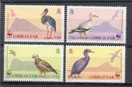 Mud112s WWF FAUNA VOGELS OOIEVAAR PATRIJS GIER BIRDS STORK VULTURE PARTRIDGE VÖGEL AVES OISEAUX GIBRALTAR 1991 PF/MNH - W.W.F.