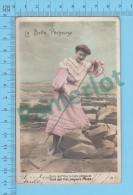 CPA, Fantaisie CPPA ( La Belle Pecheuse, Cover Windsor Mills Quebec 1906 ) Recto/verso - Women