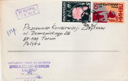 5] Enveloppe Cover Bulgarie Bulgaria 1986 Lénine Lenin Rose - Bulgaria