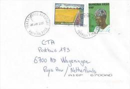 Burkina Faso 2006 Ouagadougou Aeroport Traditional Heardress Taiwan Cooperation Cover - Burkina Faso (1984-...)
