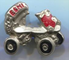 ESMI - Roller Skates, Vintage Pin, Badge - Skating (Figure)