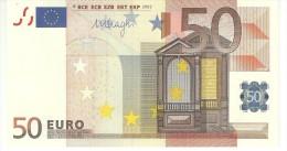 Spain  Letter V EUR 50 Printercode M056 Draghi UNC - EURO