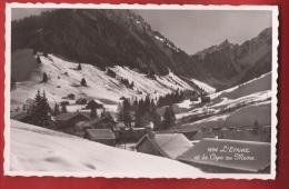 TCO-28 L'Etivaz  Et La Cape Au Moine En Hiver, Non Circulé  Visa Censure Militaire 1939 - VD Vaud
