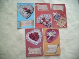 LOT DE 5 CARTES FANTAISIE....BONNE FETE PAPA.......... - Cartes Postales