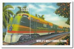 Tuvalu 2013, Postfris MNH, Trains - Tuvalu