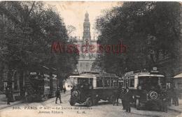 75 - PARIS - La Station Des Autobus - Avenue Victoria - écrite - 2 Scans - District 04