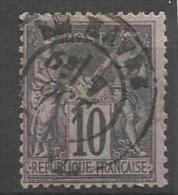 France - Type Sage - N°89 - Obl. Cachet à Date LE HAVRE - 1876-1898 Sage (Type II)