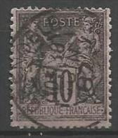 France - Type Sage - N°89 - Obl. Cachet à Date GRENOBLE 30 JUIN 87 - 1876-1898 Sage (Type II)