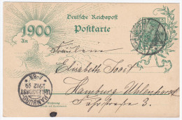 Germany 1899 Card Sent To Hamburg - Hambourg