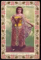 PALMIRA BASTOS actriz TEATRO TRINDADE - Postal Duplo Typographia de LIBANIO da SILVA