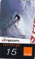 REUNION ISL. - Rip Curl, Mick Fanning, Orange Recharge Card 15 Euro, Exp.date 12/05, Used - Reunion