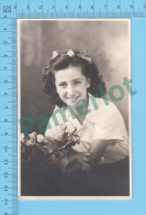Cpa ( Photo Jeune Fille  Azo 1926-1940 ) Photo Carte Postale Postcard Recto/verso - Photographie
