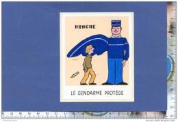 Autocollant - Gendarme Protège - Drogue - Gendarmerie - D' Après Affiche De Savignac - Enfant - Sticker - Stickers