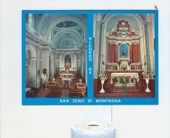 Ricordo Da SAN ZENO Di MONTAGNA,Chiesa Di San Zeno,interno-NV - Verona