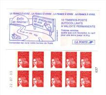 Carnet Luquet La France à Vivre YT 3419-C9 Daté 8 Timbres Sans Phosphore Tenant à 2 Bande Gauche Maury N° 537Id : 170 € - Carnets