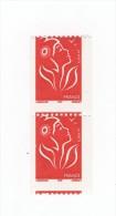 Lamouche TVP Rouge De Roulette ITVF YT 3743 En Paire Verticale Avec Petit Piquage à Cheval . Pas Courant , Voir Le Scan - Variedades: 2000-09 Nuevos