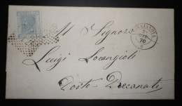 ANNULLI NUMERALI ABRUZZO: NUMERALE GIULIANOVA Teramo - 1861-78 Vittorio Emanuele II