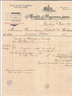 HAMBOURG .- MORITZ MAGNUS JUNR  Waffen - Munition ,Kriesbedarf MILITAR - EQUIPIRUNGEN - Deutschland