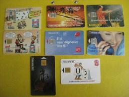 8 Télécartes 50 /  PERSIL, Télécom, SFR, Téléphone Berliner Etc - Télécartes