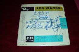 AUTOGRAPHE SUR VINYLE 45 TOURS  ° LES VINYSS   L'AME DES JOURS HEUREUX + 3 TITRES  ANNEES 60 - Autographes