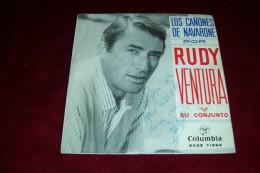 AUTOGRAPHE SUR VINYLE 45 TOURS  ° RUDY VENTURA  ° LOS CANONES DE NAVARONE  + 3 TITRES  ANNEES 60 - Autographes