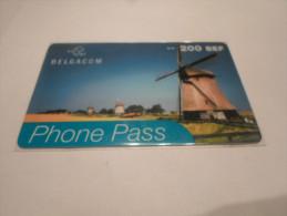 BELGIUM - SUPERB THEMATIC phonecard Phone Pass - countries series n�1