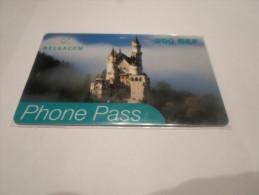 BELGIUM - SUPERB THEMATIC phonecard Phone Pass - countries series n�2