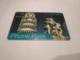 BELGIUM - SUPERB THEMATIC phonecard Phone Pass - countries series n�4