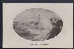 WC762 GREAT STORM AT BLACKPOOL - Blackpool