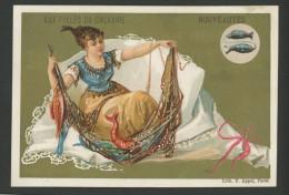 Paris, Aux Filles Du Calvaire, Chromo Lith. Appel, Thème Horoscope, Zodiaque, Signe Du Poisson - Chromos