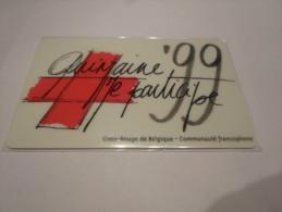 BELGIUM - VERY nice prepaid phonecard 'Red Cross' - MINT
