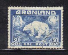 W604 - GROENLANDIA 1938 , 30 Ore  N. 7  Usato - Groenlandia