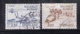W2315 - GROENLANDIA 1981 , Serie  N. 119/120  Usata. - Usati