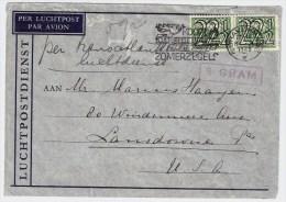 NL ,1940, Portoger. MeF A. Luftpost Nach USA ,  #1220 - 1891-1948 (Wilhelmine)