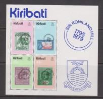Kiribati 1979 Rowland Hill Postage Stamp Anniversary Miniature Sheet MNH - Kiribati (1979-...)