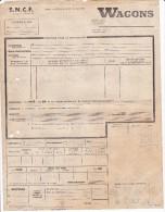 FRANCE SNCF Expédition Wagons Gare ANGOULEME à SERS DIGNAC 1947 - Transport