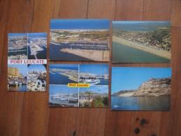 Lot De 10 Cartes De Port Leucate ( Aude ) Toutes Scannées Recto/ Verso - Postcards