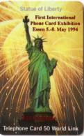 USA STATUE LIBERTE LIBERTY WORLD LINK 10U SURCHARGED EXHIBITION ESSEN 1994 VERY RARE
