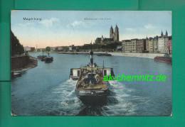 alte Dampfer Feldpost AK 39104 Magdeburg 1915 !!!  Elbansicht mit Dom , Seitenrad-Dampfer K�nigin Luise