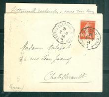 Oblitération Convoyeur , Ambulant , Ussel à Busseau-D'Ahun  SUR LAC De Juillet 1914  Mala2108 - Spoorwegpost