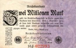 Germany,2 Millionen Mark,09.08.1923,P.103 Var.,as Scan - 2 Millionen Mark