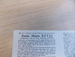 Doodsprentje Paula Maria Buyse Roeselare 26/8/1928 Wervik 3/6/1960 ( Raphaël Gheysen ) - Religione & Esoterismo