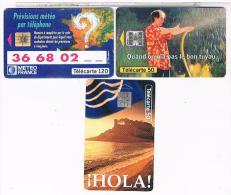 3  TELE CARTES  FRANCE  TELECOM  METEO     BE - Phonecards