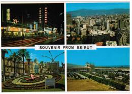 SOUVENIR FROM BEIRUT HAMRA STREET PANORAMA MARTYR'S SQUARE AIRPORT LIBAN