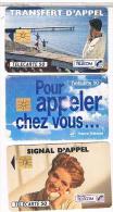 3 TELE CARTES   FRANCE  TELECOM   TRANSFERT  D APPEL      BE - Phonecards