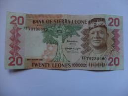 BILLET SIERRA LEONE - P.14b - 20 LEONES - 1984 - S. STEVENS - CHERCHEURS D´OR - Sierra Leone