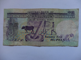 BILLET SEYCHELLES - P.33 - 25 RUPEES - NOIX DE COCO - MOULIN A BOEUF - Seychelles