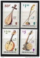 China Chine : (22) 1993 Hong Kong - Instruments De Musique Chinois De Ficelle SG737/40** - Non Classés