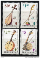China Chine : (22) 1993 Hong Kong - Instruments De Musique Chinois De Ficelle SG737/40** - 1997-... Région Administrative Chinoise
