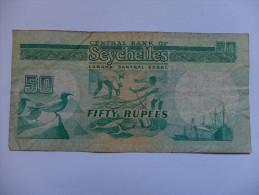 BILLET SEYCHELLES - P.34 - 50 RUPEES - PECHEURS - CARGO - MOUETTE - Seychelles